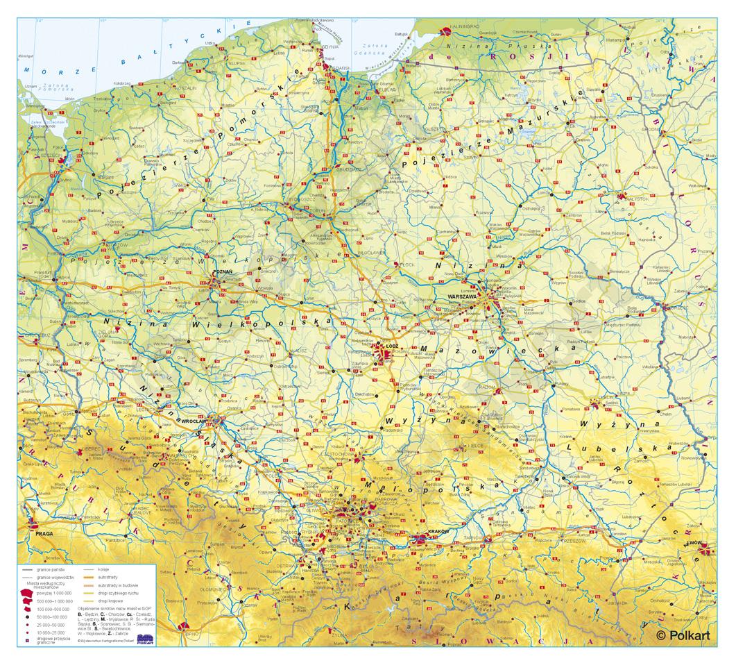 Mapy Polski Duże I Wielkiewydawnictwo Kartograficzne Polkart