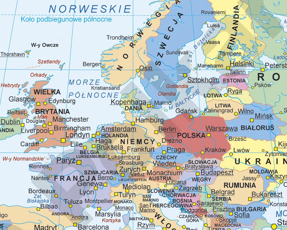 Mapy Panstw I Europywydawnictwo Kartograficzne Polkart