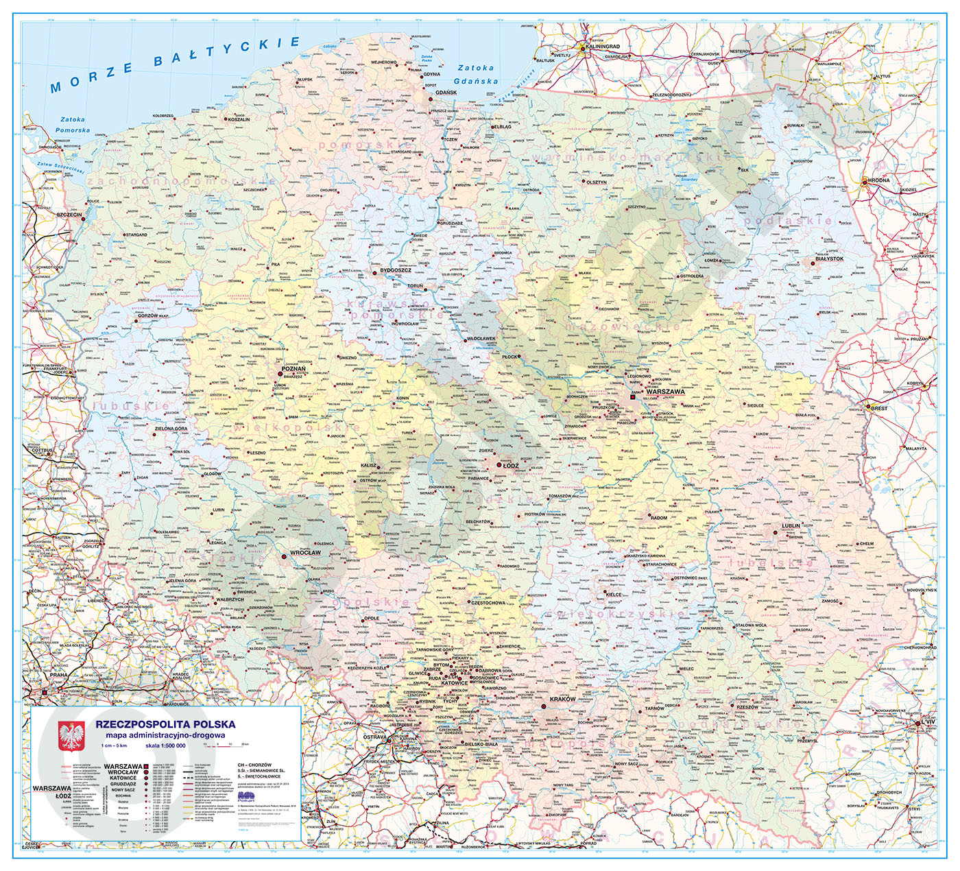 Mapy Polski Duze I Wielkiewydawnictwo Kartograficzne Polkart