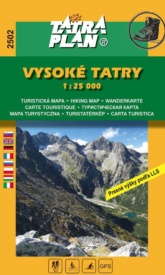 mapa Vysoké Tatry